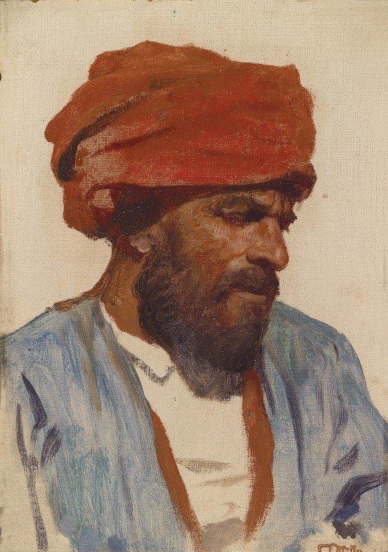 Leopold Carl Müller - Portrait eines Orientalen