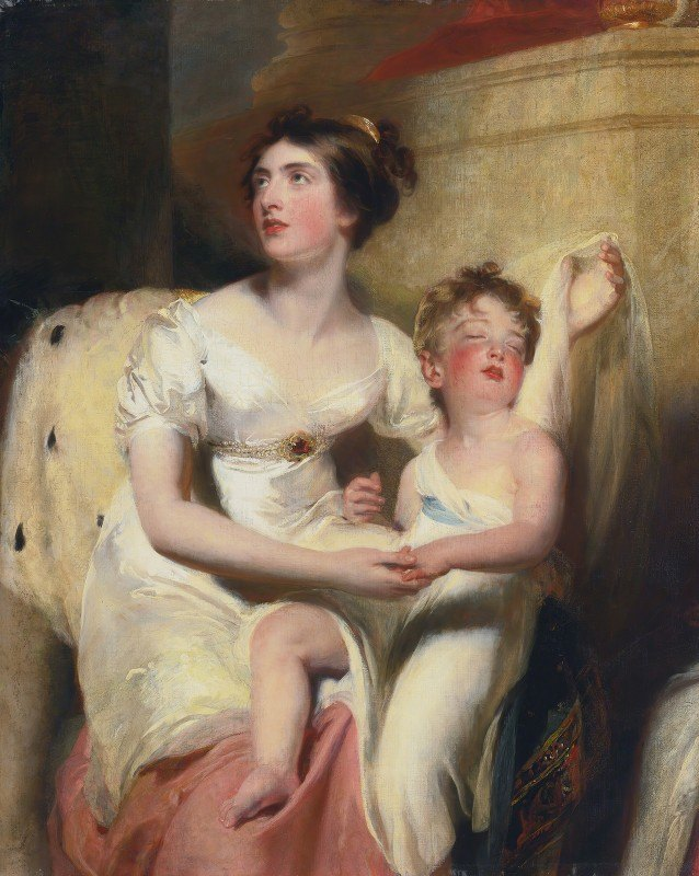 Sir Thomas Lawrence - Anne, countess of Charlemont and her son James