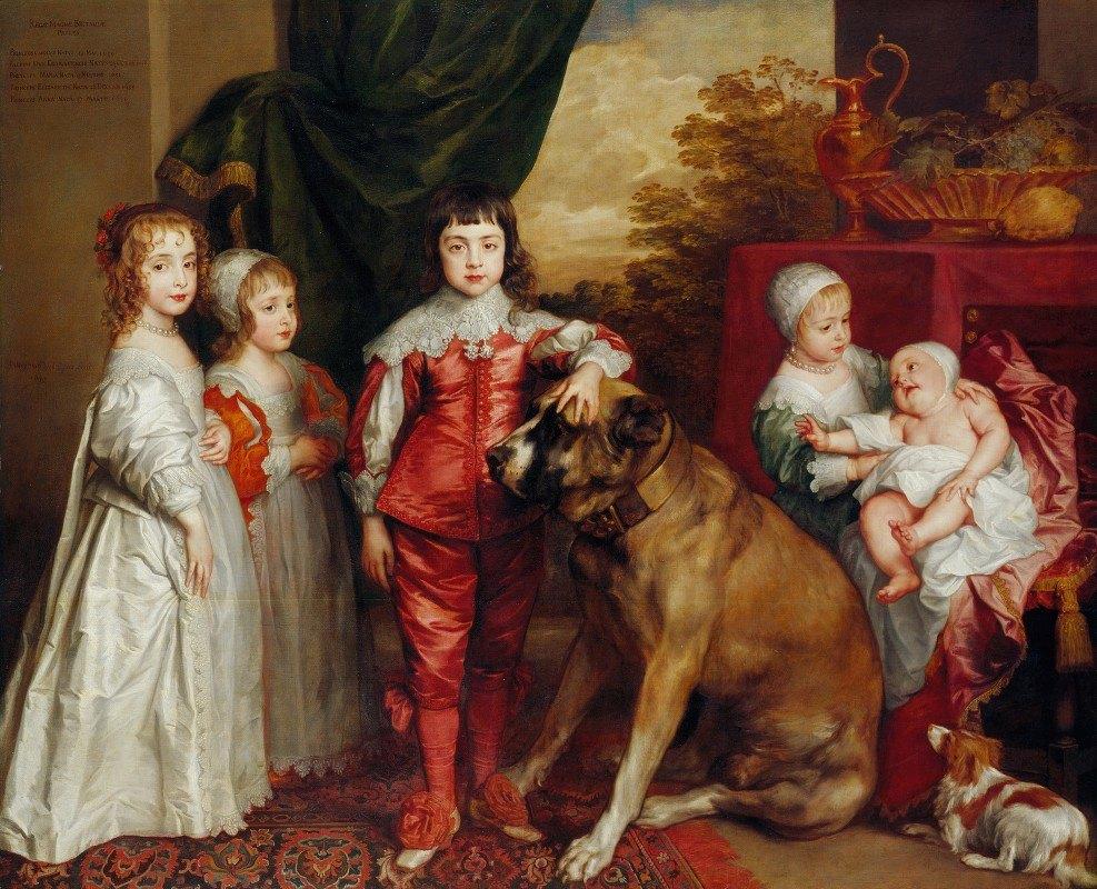 Anthony van Dyck - Five Eldest Children Of Charles I