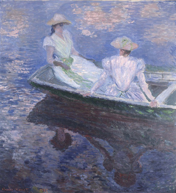 Claude Monet - On The Boat