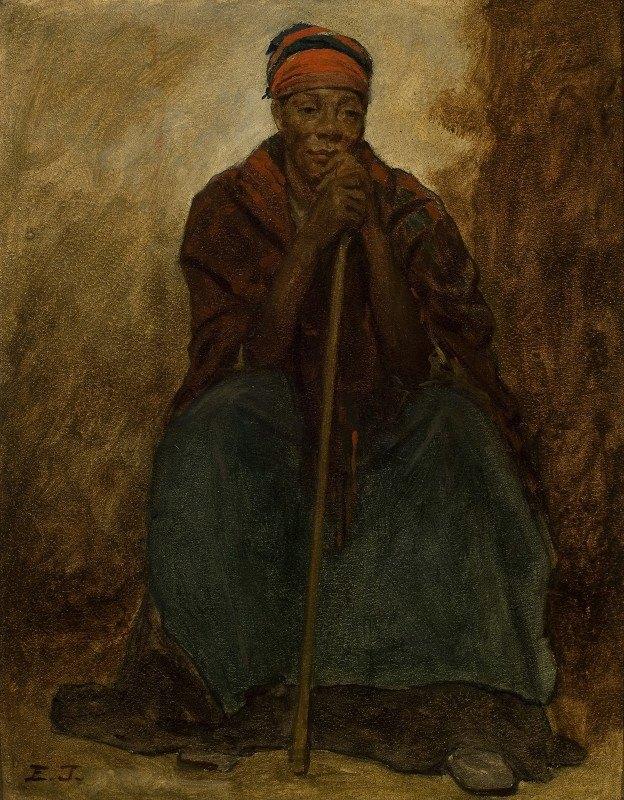 Eastman Johnson - Dinah, Portrait Of A Negress