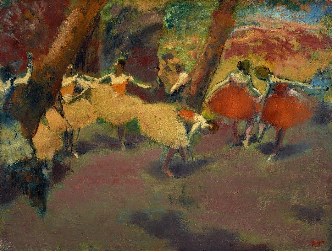 Edgar Degas - Before The Performance