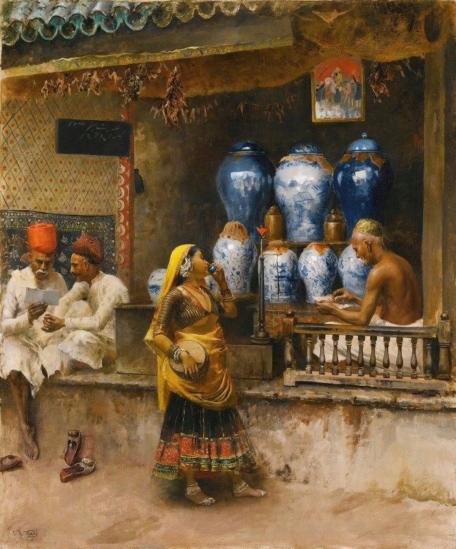 Edwin Lord Weeks - A Perfumer's Shop, Bombay