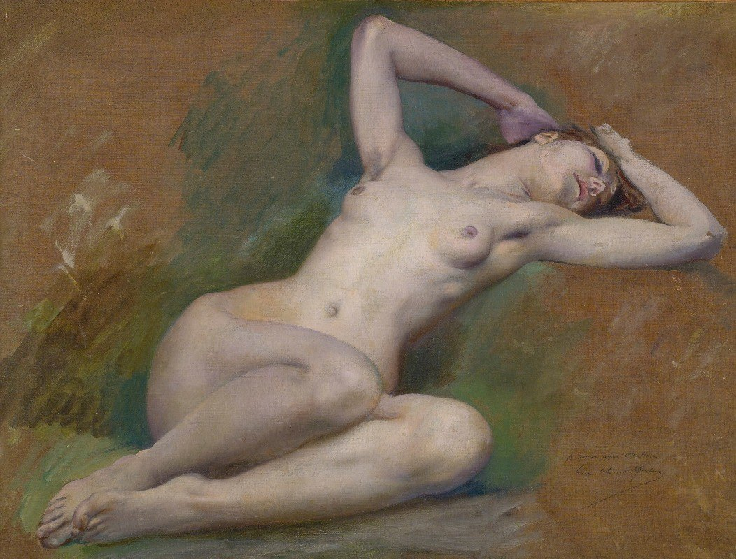 Luc-Olivier Merson - Study For The Figure Of'spring' At L'opéra Comique, Paris
