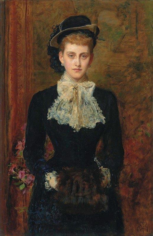 Sir John Everett Millais - Countess de Pourtales, The Former Mrs Sebastian Schlesinger