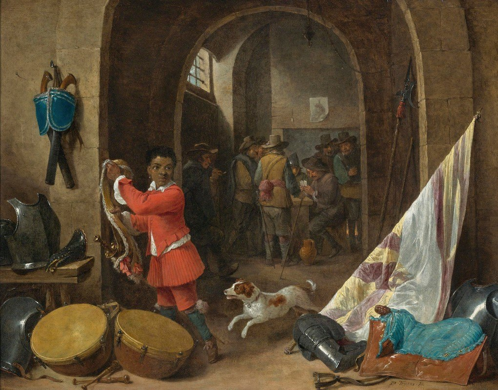 David Teniers The Younger - A Guardroom Interior