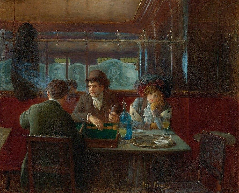 Jean Béraud - Backgammon At The Café