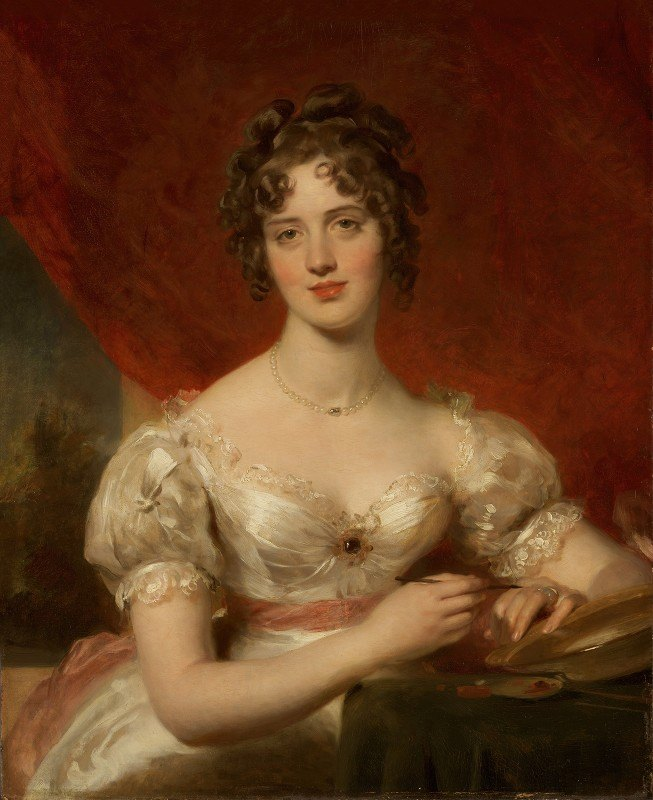 Sir Thomas Lawrence - Portrait Of Mary Anne Bloxam (Later Mrs. Frederick H. Hemming)