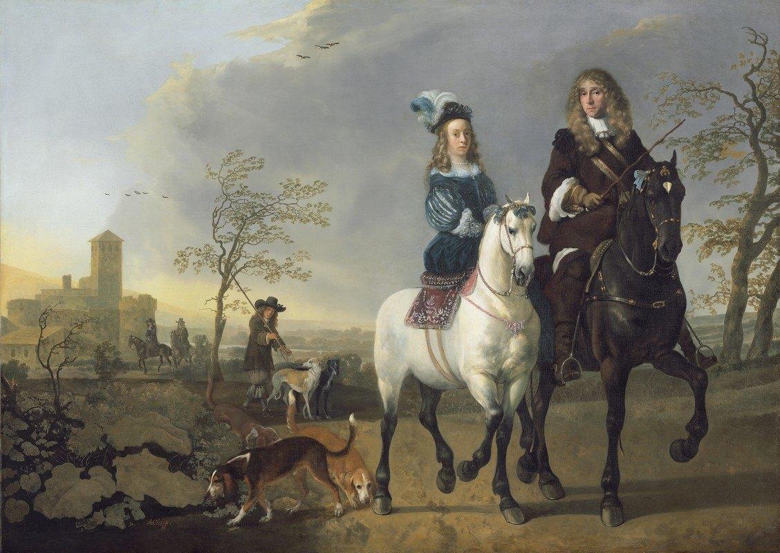 Aelbert Cuyp - Lady and Gentleman on Horseback