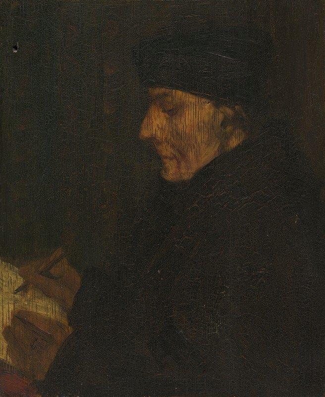 Alphonse Legros - Memory Copy of Holbein's Erasmus
