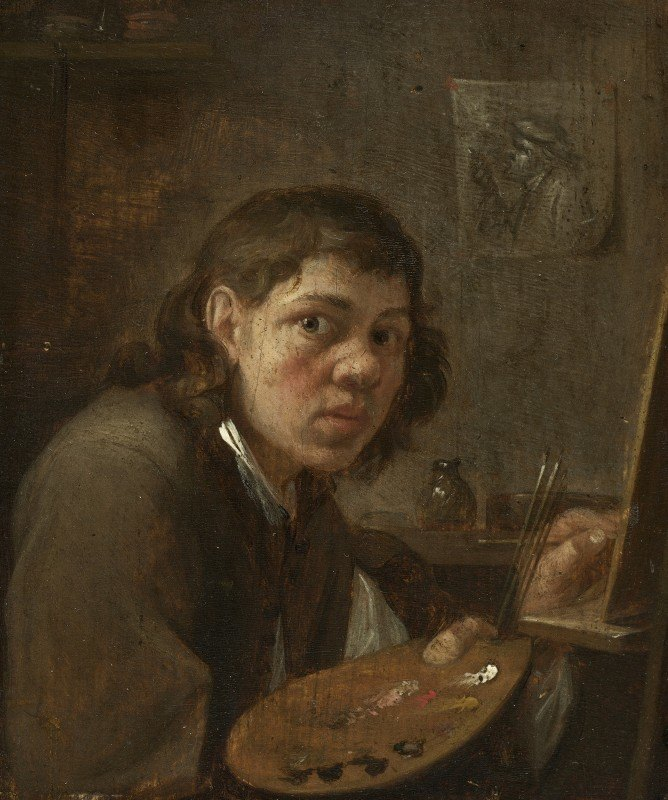 Gillis van Tilborgh - Self-Portrait in the Studio