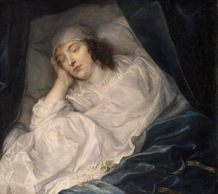 Anthony van Dyck - Lady Digby, on her Deathbed