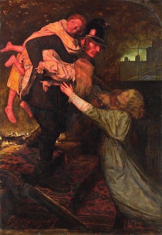 Sir John Everett Millais - The rescue