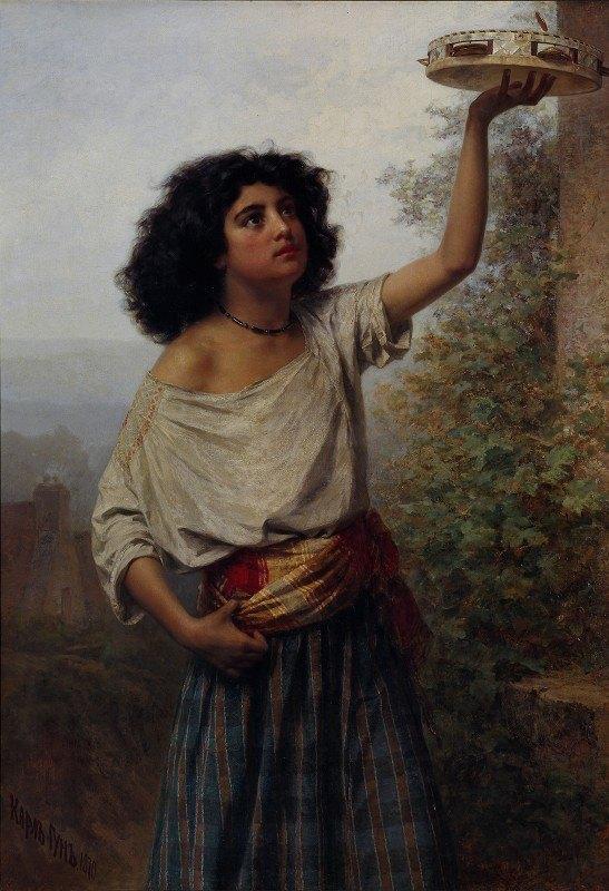 Kārlis Teodors Hūns - Young Gipsy Woman
