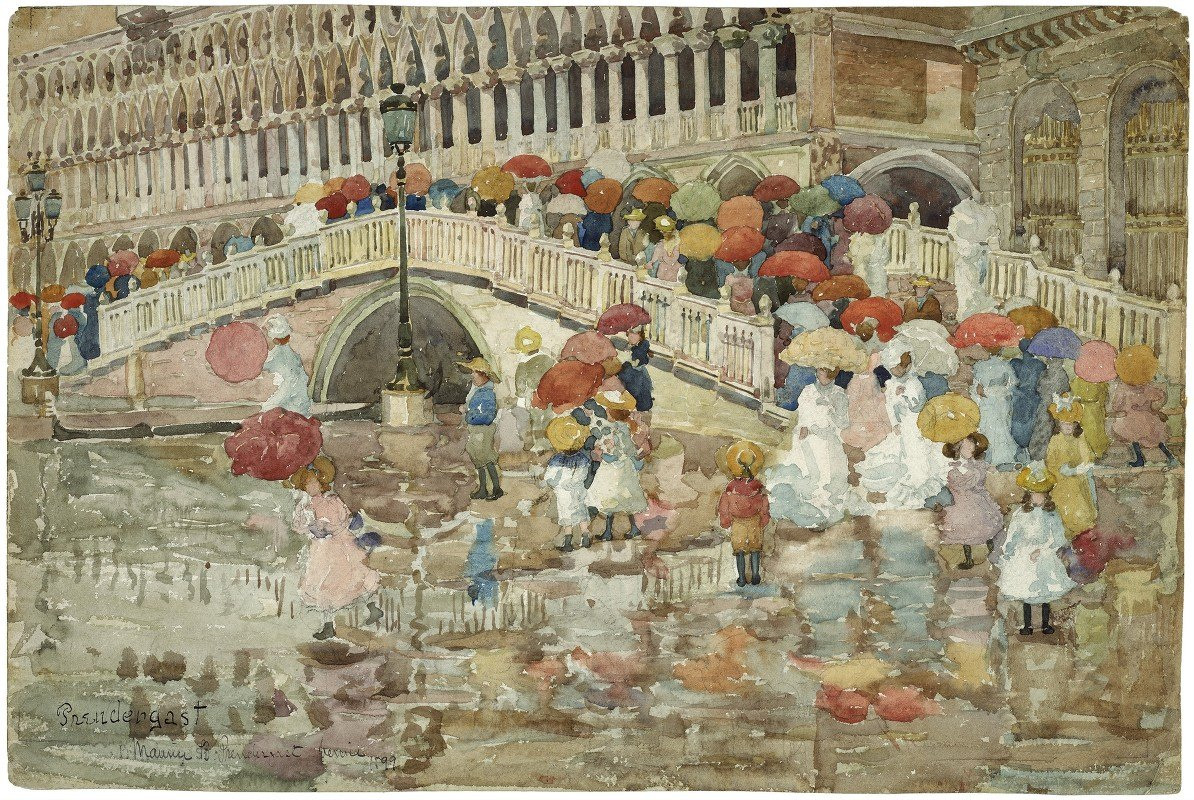 Maurice Prendergast - Umbrellas in the Rain