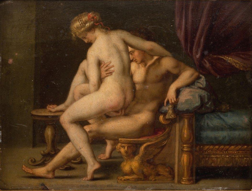 Agostino Carracci - Nuditet med mand og kvinde