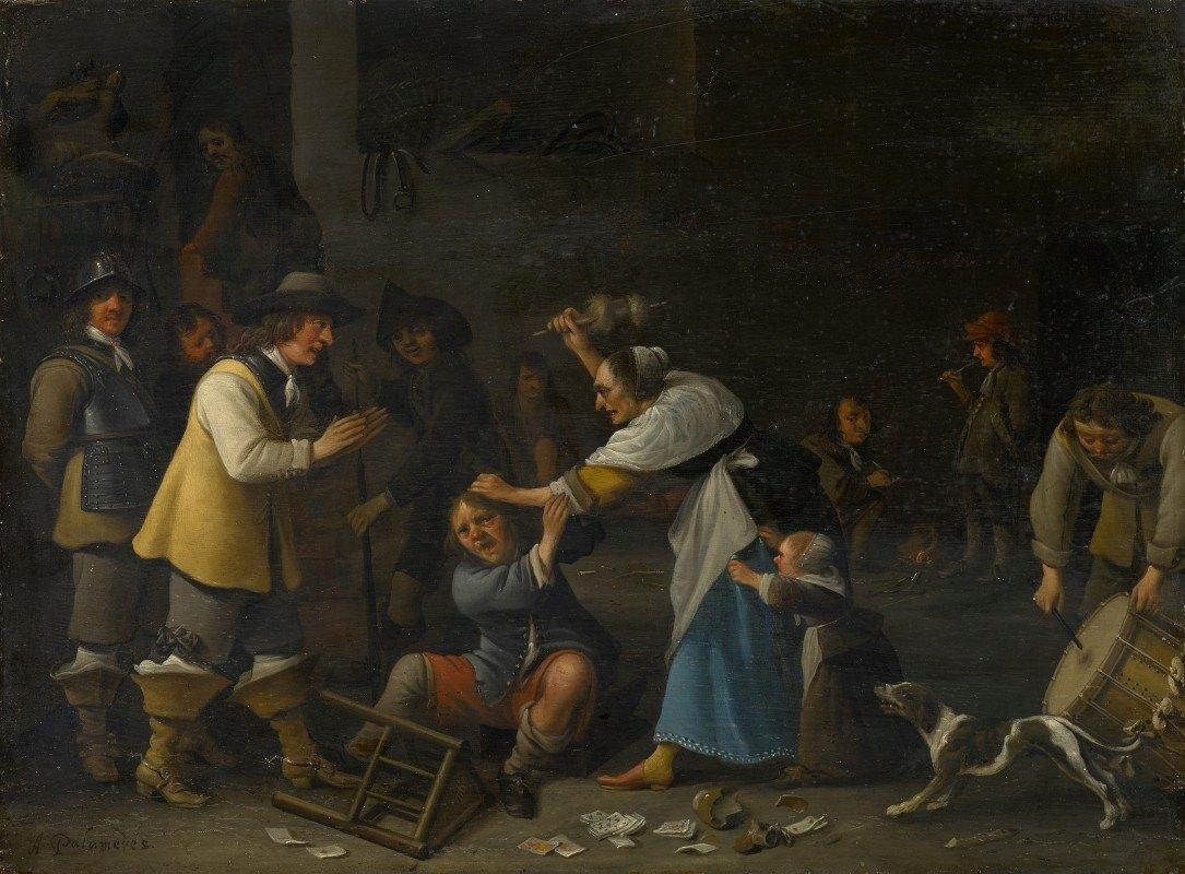 Anthonie Palamedesz. - Fight in the Tavern