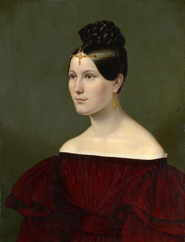 Emilie Linder - Portrait of the Baroness Auguste von Eichthal