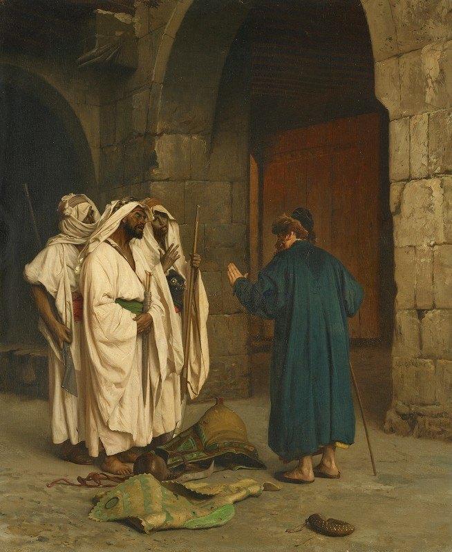 Jean-Léon Gérôme - Old Jew with three Arabs