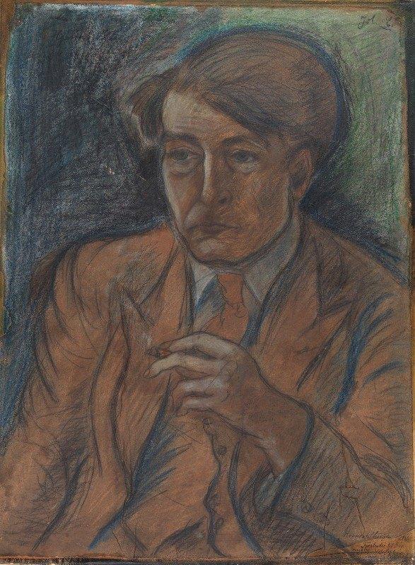 John Christensen - Forstudie til portræt af maleren og grafikeren Søren Hjorth Nielsen