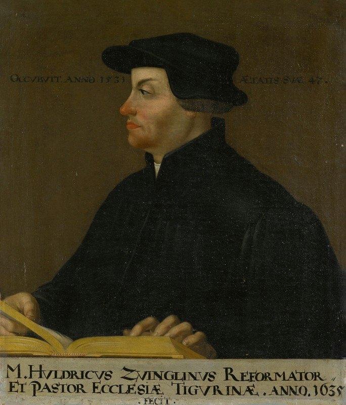Anonymous - Portrait of Huldrich Zwingli