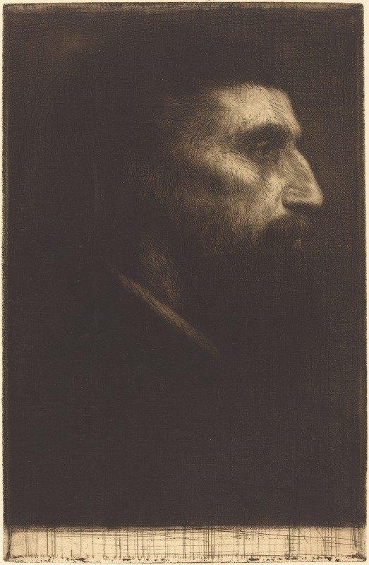 Alphonse Legros - Head Of A Man