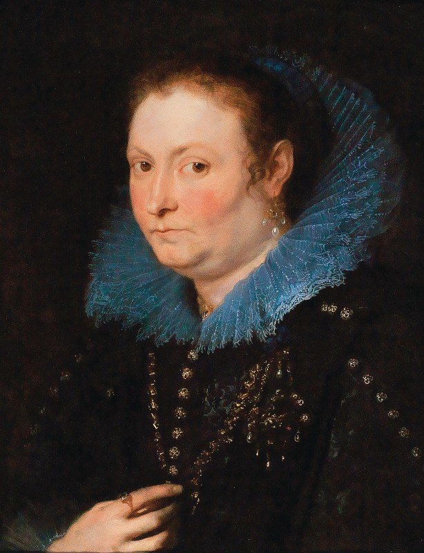 Anthony van Dyck - Portrait Of A Lady, Half-Length, Said To Be A Genoese Noblewoman