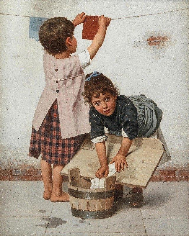 Giulio del Torre - Die Kleine Wäscherin [The Little Washerwoman]