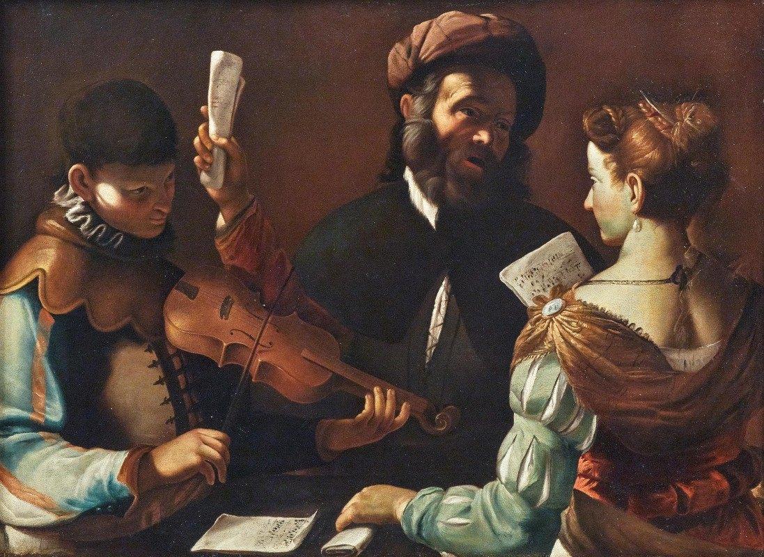 Mattia Preti - Concertino With A Violin Player