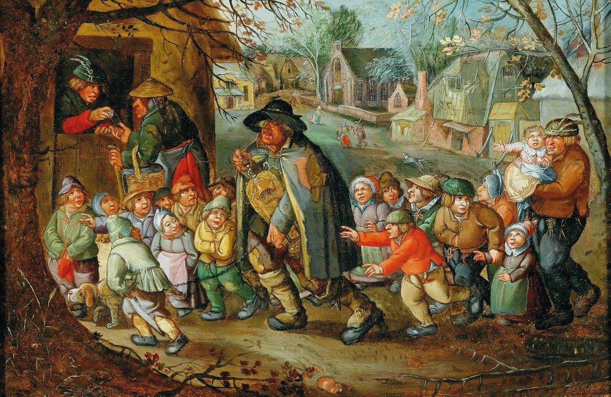 School Of Antwerp - The Hurdy-Gurdy Player