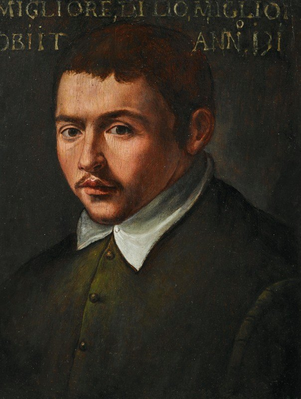 Tuscan School - Portrait Of A Young Man
