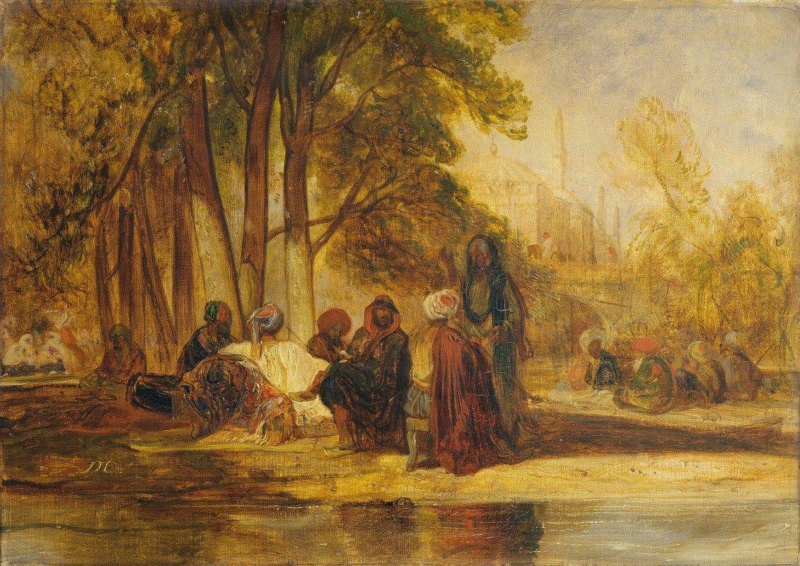 Alexandre-Gabriel Decamps - Eastern Figures Reposing