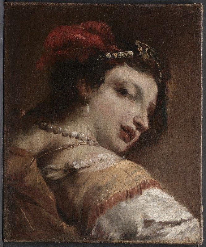 Giovanni Antonio Guardi - Head of a Woman