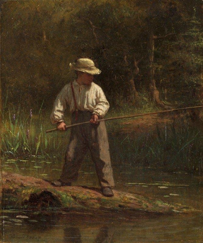 Eastman Johnson - Boy Fishing