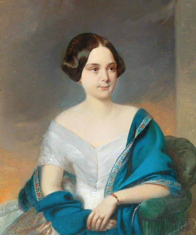 Eduard Swoboda - Portrait of a Young Lady