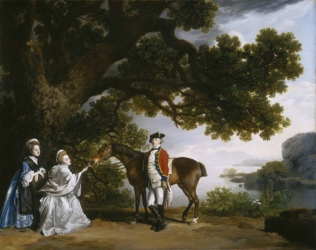 George Stubbs - Captain Samuel Sharpe Pocklington with His Wife, Pleasance, and possibly His Sister, Frances