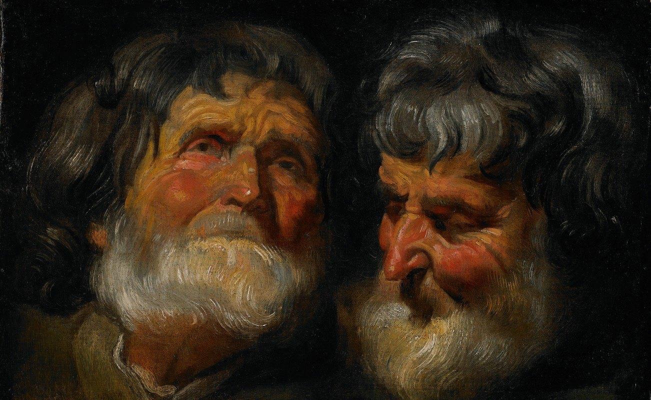 Jacob Jordaens - Two Studies of the Head of an Old Man