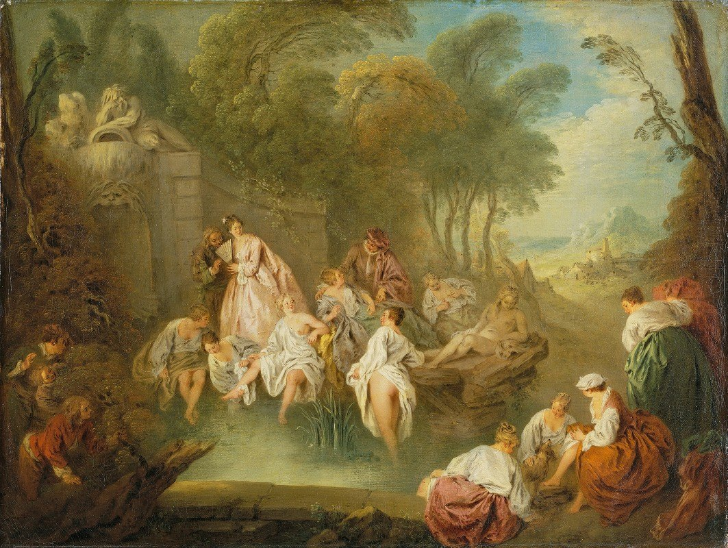 Jean-Baptiste Pater - Bathing Party in a Park