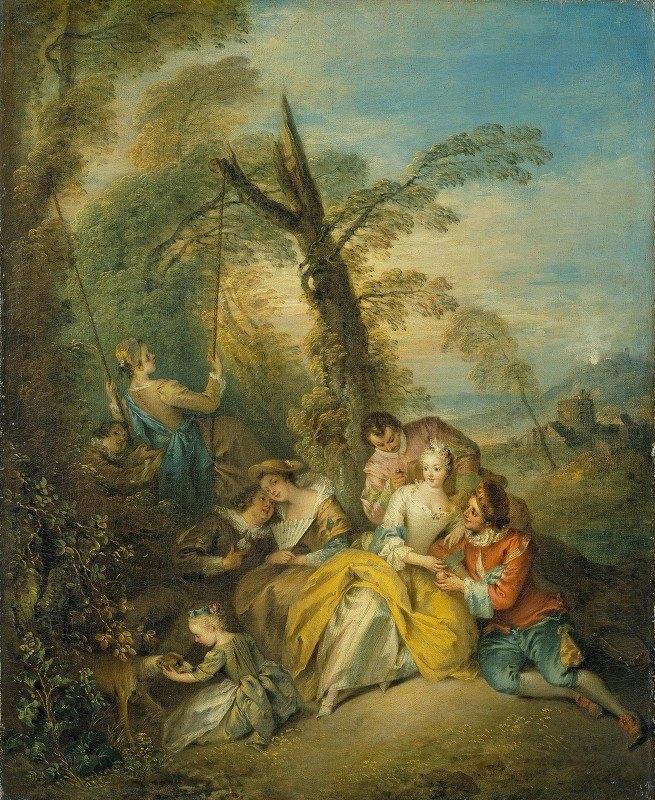 Jean-Baptiste Pater - La conversation intéressante (The Interesting Conversation)
