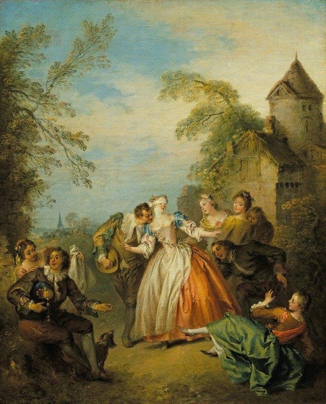 Jean-Baptiste Pater - Le colin-maillard (Blind Man's Buff)