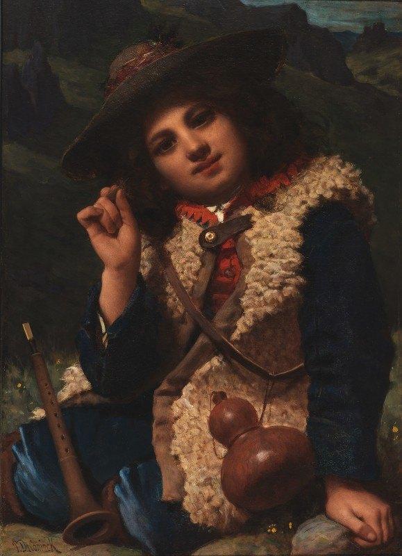 Pierre-Louis-Joseph de Coninck - Italian Boy in Sheepskin Jacket