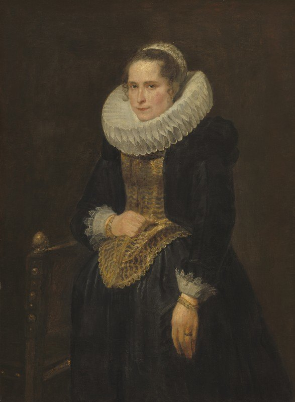 Anthony van Dyck - Portrait of a Flemish Lady