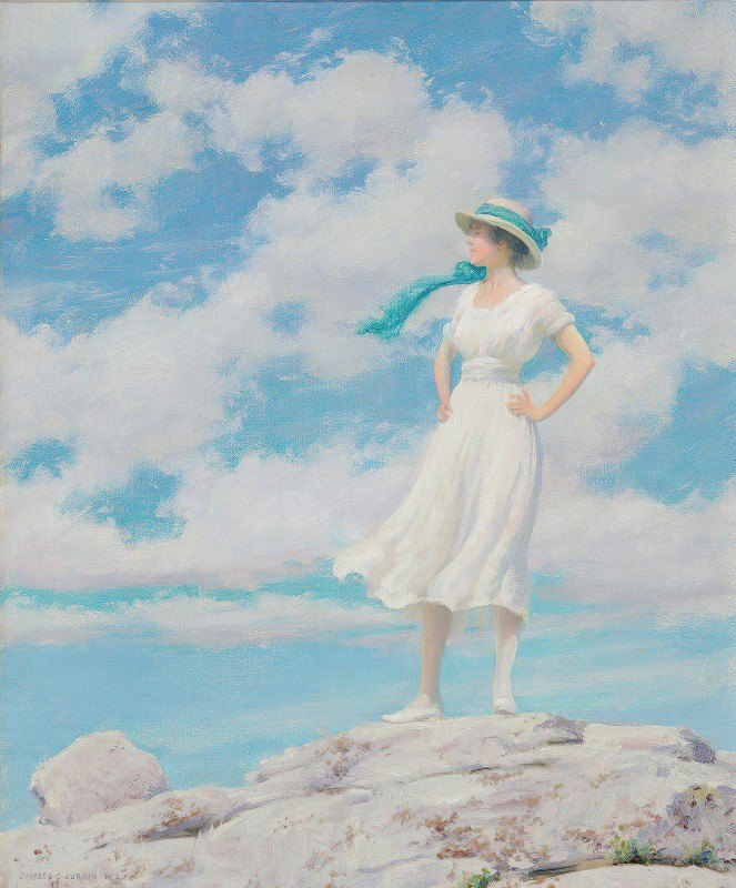 Charles Courtney Curran - Summy Sky (On the Summit)