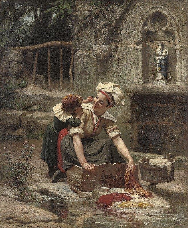 Frederick Arthur Bridgman - Mother's little helper