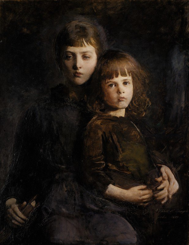 Abbott Handerson Thayer - Brother and Sister (Mary and Gerald Thayer)