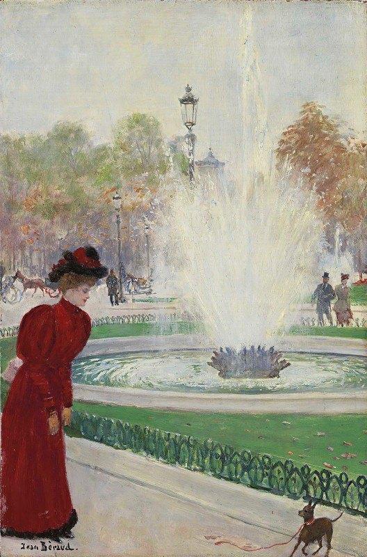 Jean Béraud - Parisienne au rond-point des Champs-Élysées
