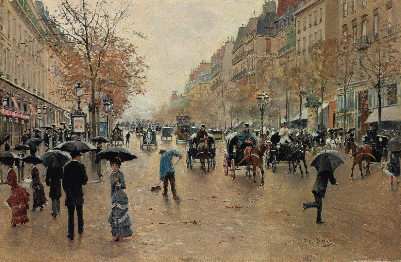 Jean Béraud - Boulevard Poissonnière en automne