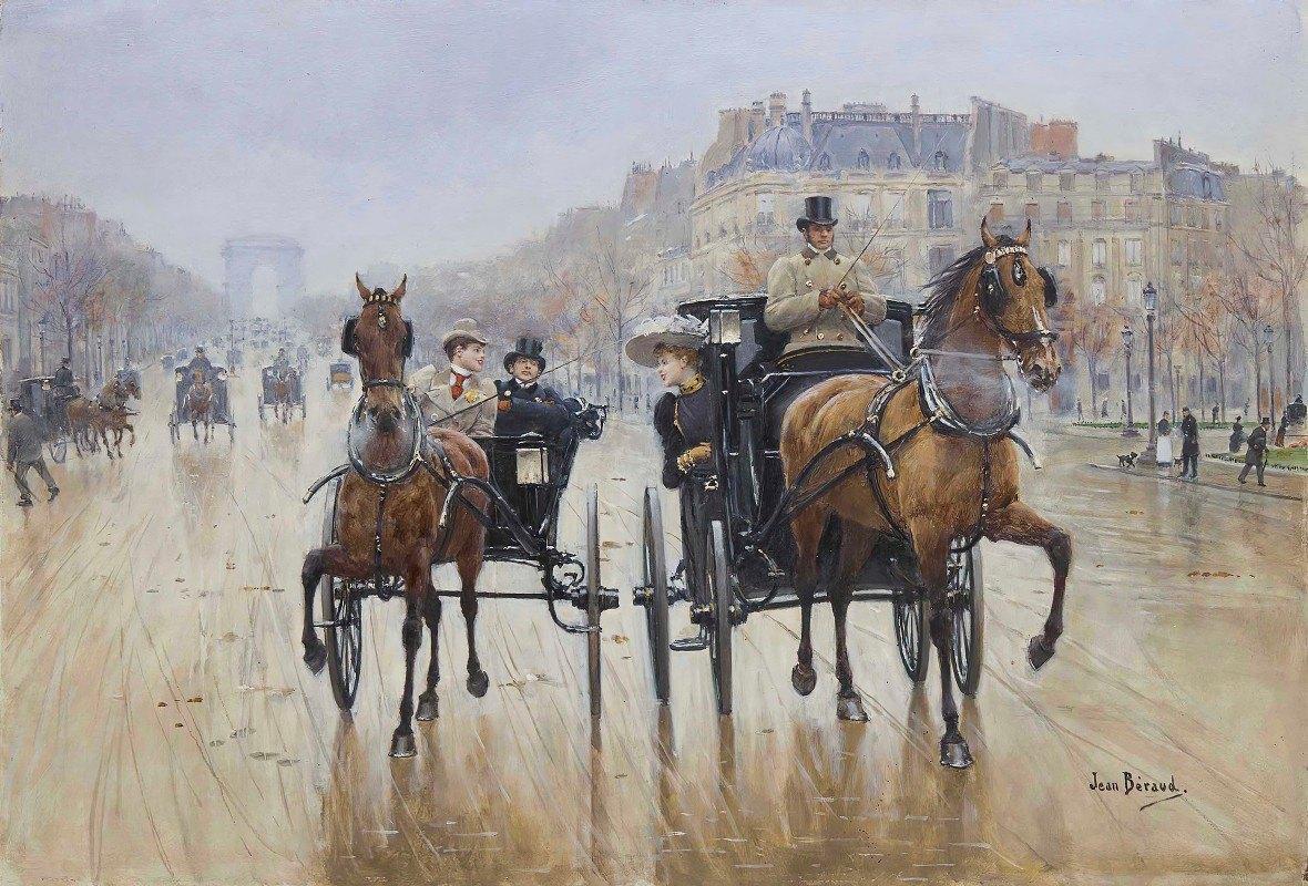 Jean Béraud - Rond-Point des Champs-Élysées