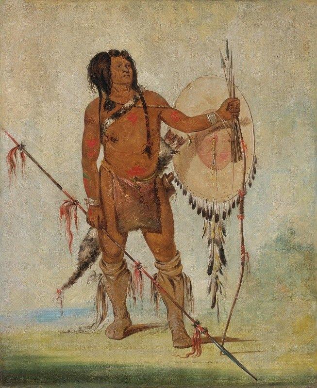 George Catlin - His-Oo-Sán-Chees, Little Spaniard, a Warrior