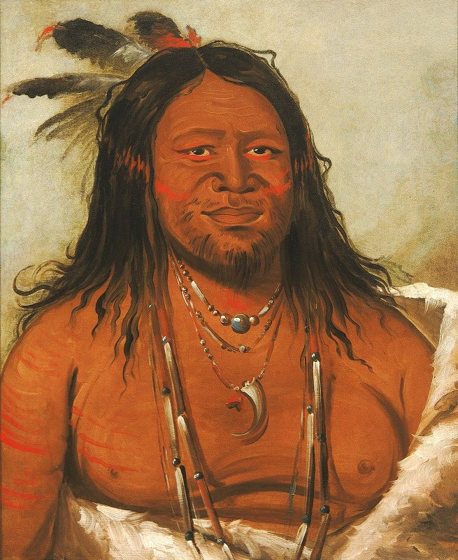 George Catlin - Ta-Wáh-Que-Nah, Mountain of Rocks, Second Chief of The Tribe
